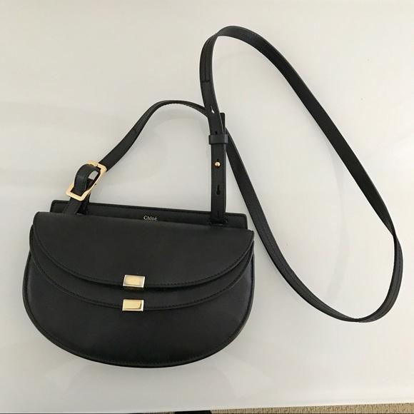 6b06385ba2 Chloé Georgia Crossbody Bag Black Small